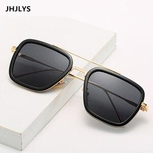 2019 الرجل الحديدي 3 SunglassesMen الفاخرة العلامة التجارية مربع النظارات الشمسية توني ستارك ماتسودا Steampunk خمر نظارات أسود عدسة UV400