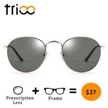 TRIOO Kurzsichtig Fahrer Schwarz Anti Glare Sonnenbrille Dioptrien Klassische Myopie Gläser Frauen Retro Stil Rezept brillen