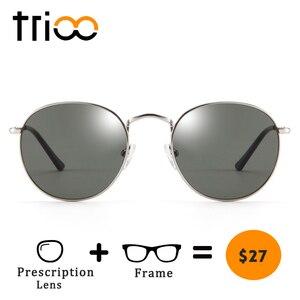 Image 1 - TRIOO  Nearsighted Driver Black Anti Glare Sunglasses Diopter Classic Myopia Glasses Women Retro Style Prescription Eye glasses