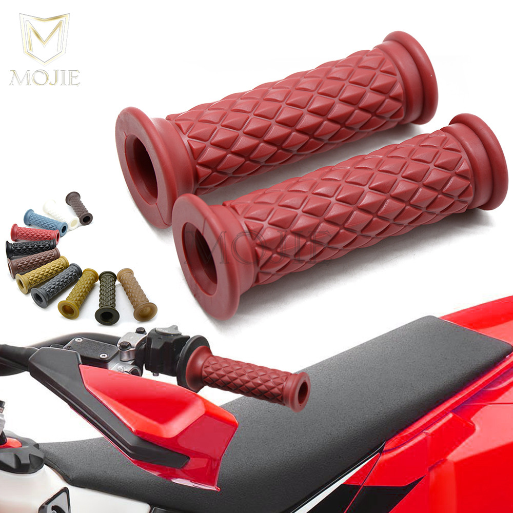 Blue 7//8 Motorcycle Handlebar Grips Non-slip Motorcycle Hand Grips Motorbike Handle Bar Hand Grips 22mm Silicone Soft for Pit Dirt Bike