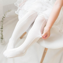 2019 new Baby Summer Pantyhose Girl Tights Pure Cotton Breathable Thin Mesh Eye Children Kids