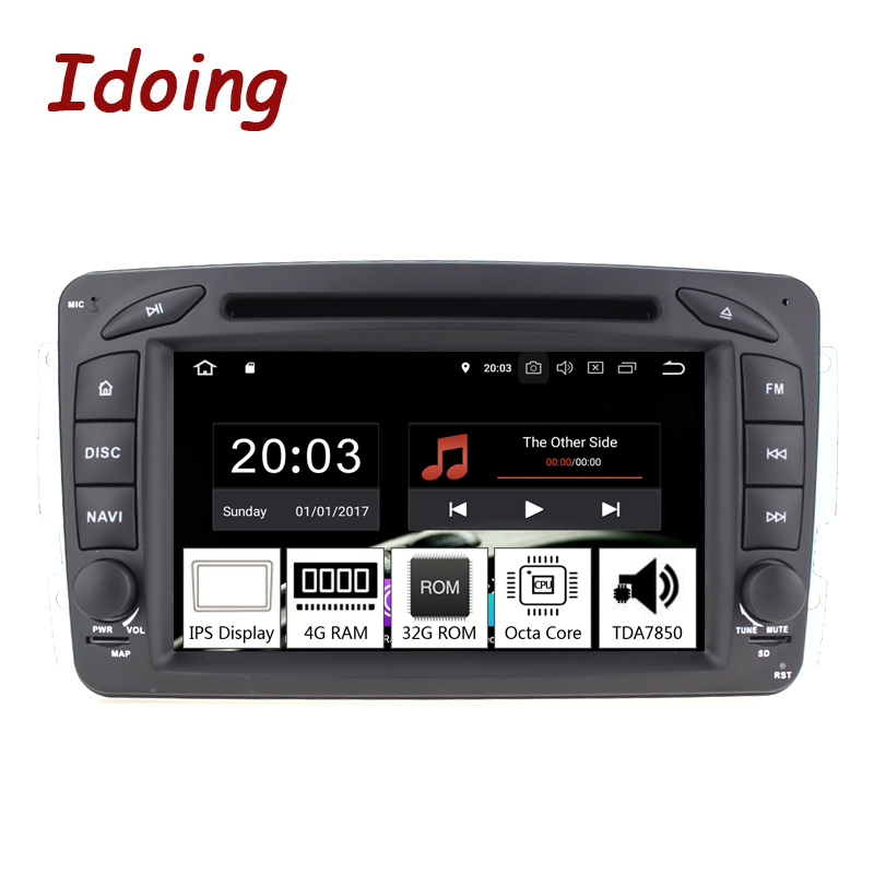 Idoing 7 2Din Andriod 9 0 Car Video DVD Multimedia Player For Mercedes Benz W209 203