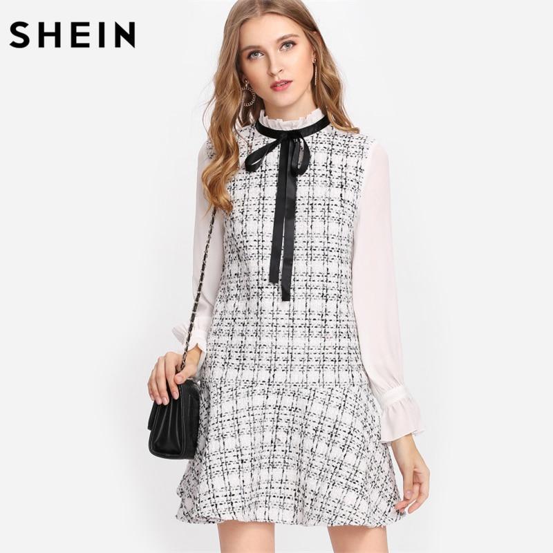 Aliexpress.com : Buy SHEIN Black and White Women Dresses ...