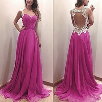 2017 New Women Summer Maxi Dress Elegant Ladies Fashion Lace Mesh Stitching Evening Party Casual Long