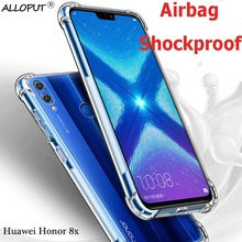 Shockproof case for Huawei Honor 8x silicone airbag honor 8 x transparent TPU cover protector tempered glass