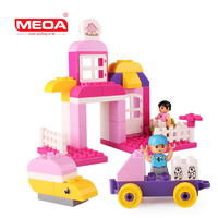 Christmas Toys Blocks 45pcs Large Building Block Toys For Toddlers My Town Big Bricks With Figures