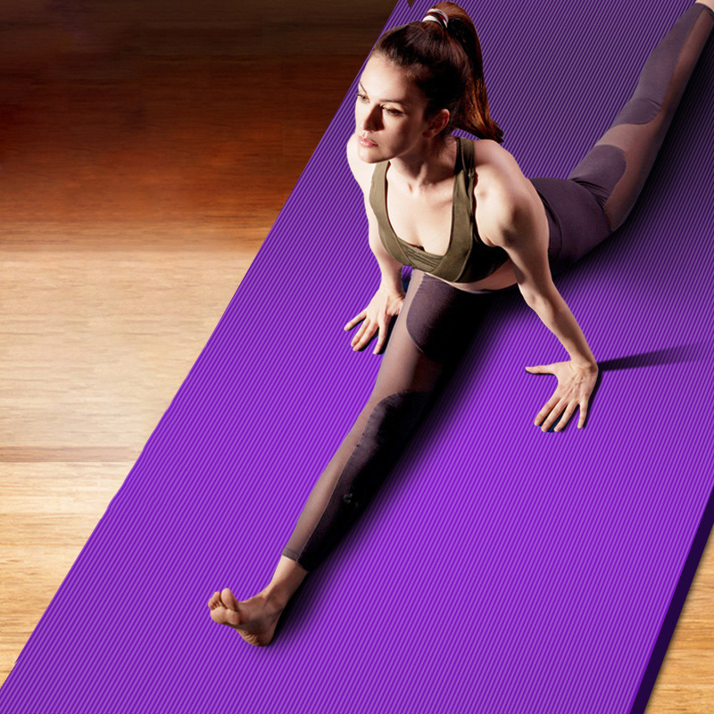 10MM Yoga Mat NBR Fitness Mat Thick Non-slip Sport Yoga Gym Mat Esterilla Pilates Tapete Yoga Mat with Strap 1