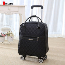 New Hot Fashion Women Brand Casual Stripes Case Rolling Rolling Luggage Trolley Luggages Trolley Luggage Bag Luggage Spinner(China)