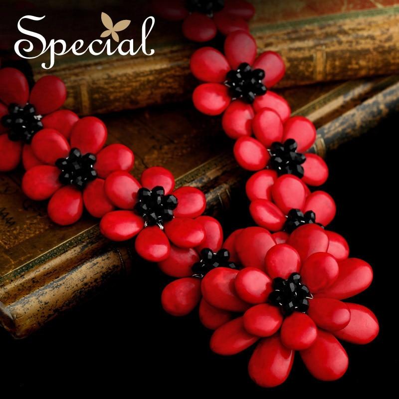 Nouveau collier spécial fleur Maxi collier Onyx naturel colliers et pendentifs déclaration bijoux fins pour les femmes XL141148