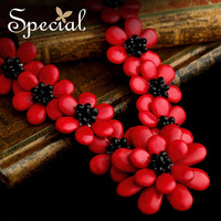 Special Brand New Fashion Flower Maxi Necklace Natural Onyx Necklaces & Pendants Statement Fine Jewelry for Women XL141148