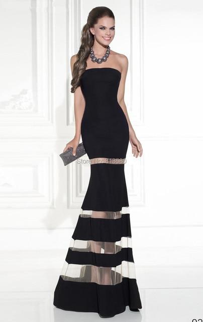 Vestido negro de tirantes largo