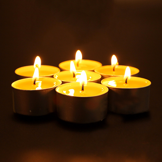 12 Hours Burning Lamp Candle Smoke Free Aluminum Yellow Daily Decoration Anniversaire Velas Birthday Sparklers for Weddings LZ23