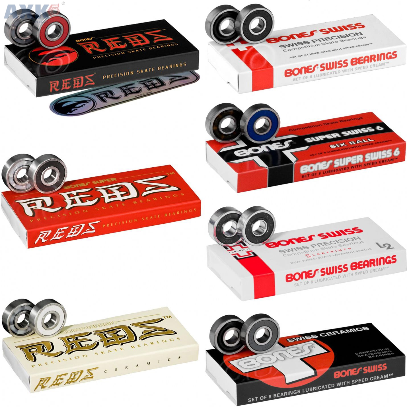 608RS Bearing 8*22*7mm Skateboard Scooter 608 2RS Ball Bearing Miniature Skate Roller 608-2RS 608 RS Bearings
