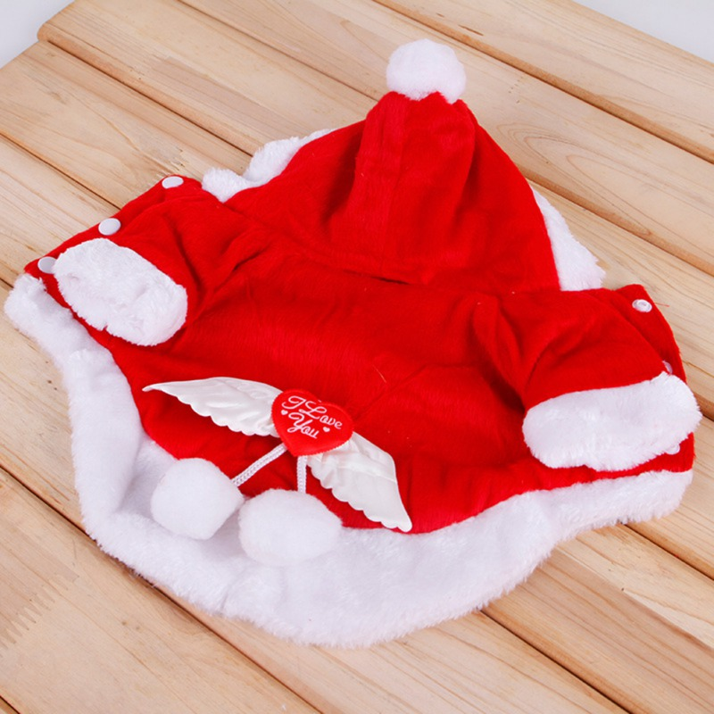2018 Christmas Dog Clothes Winte Coat Clothing Santa Costume Pet Dog Christmas Clothes Puppy Outfit For Dog