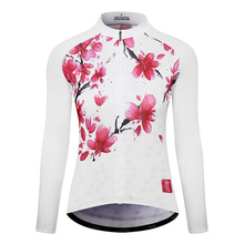 цена на MTSPS Women Cycling Jersey Mtb Bicycle Clothes Ciclismo Long Sleeves Jersey Road Riding Shirt Female Road Bike Cycling Clothing