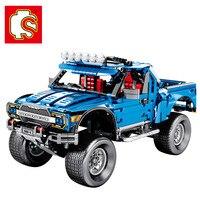 SEMBO Legoing Technic the F 150 Raptor Pickup Set Model building blocks Classic Famous Car Educational Kids toys