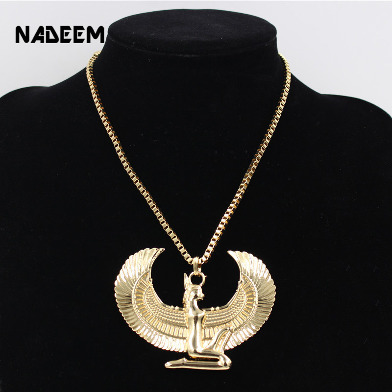 New Fashion Gold Color Punk Long Chain Hiphop Eagle s