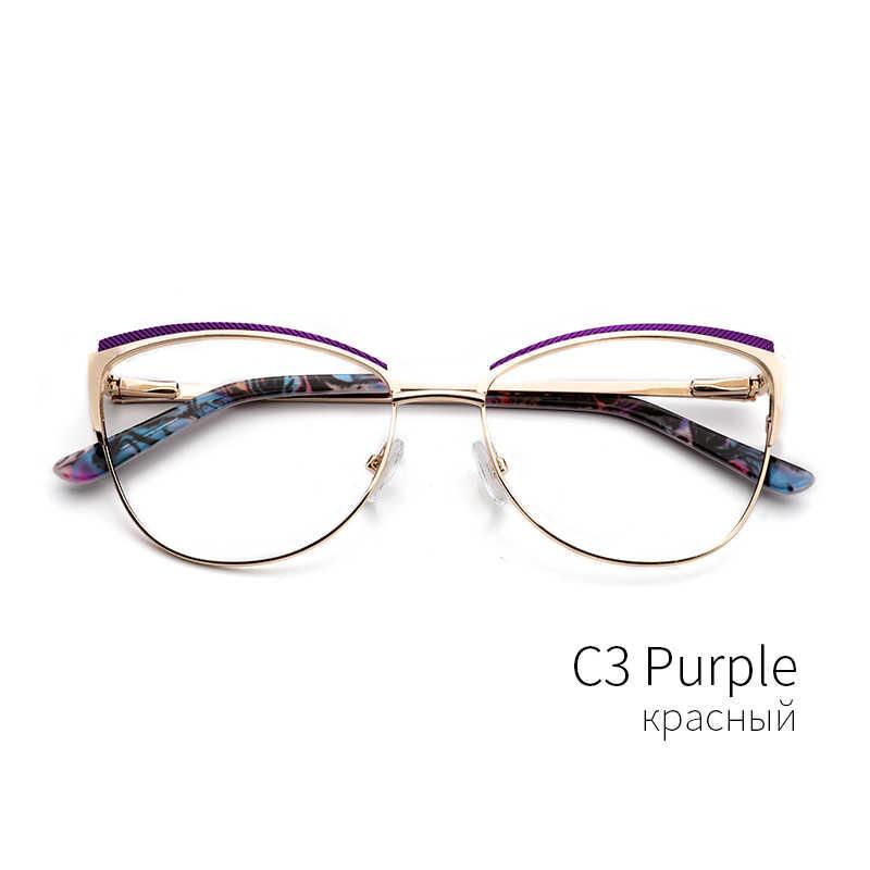 cf2057c82 ... Metal Women Metal Glasses Frame Cat Eye Glasses Women Myopia Optical  Clear Eyeglasses Frame Brand Designer ...