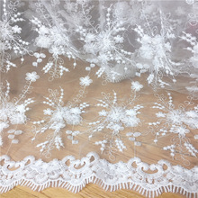 tulle Organza embroidered flower lace fabric diy craft fashion wedding dress clothing Curtain decora accessories MT67