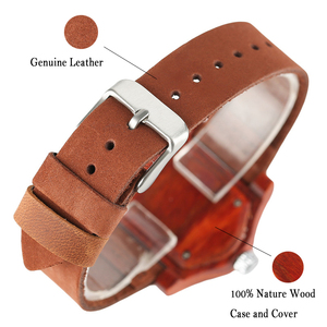 Image 4 - Женские часы с деревянными браслетами, женские этнические винтажные кварцевые часы из натуральной кожи, женские мужские наручные часы из бамбука