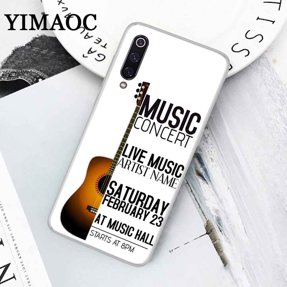 US $1 59 20% OFF|YIMAOC Muse Band Lyrics Music Songs Soft Case for Xiaomi 6  8 Lite SE A1 A2 5X 6X Mix 2S F1 9 MAX 3-in Fitted Cases from Cellphones &