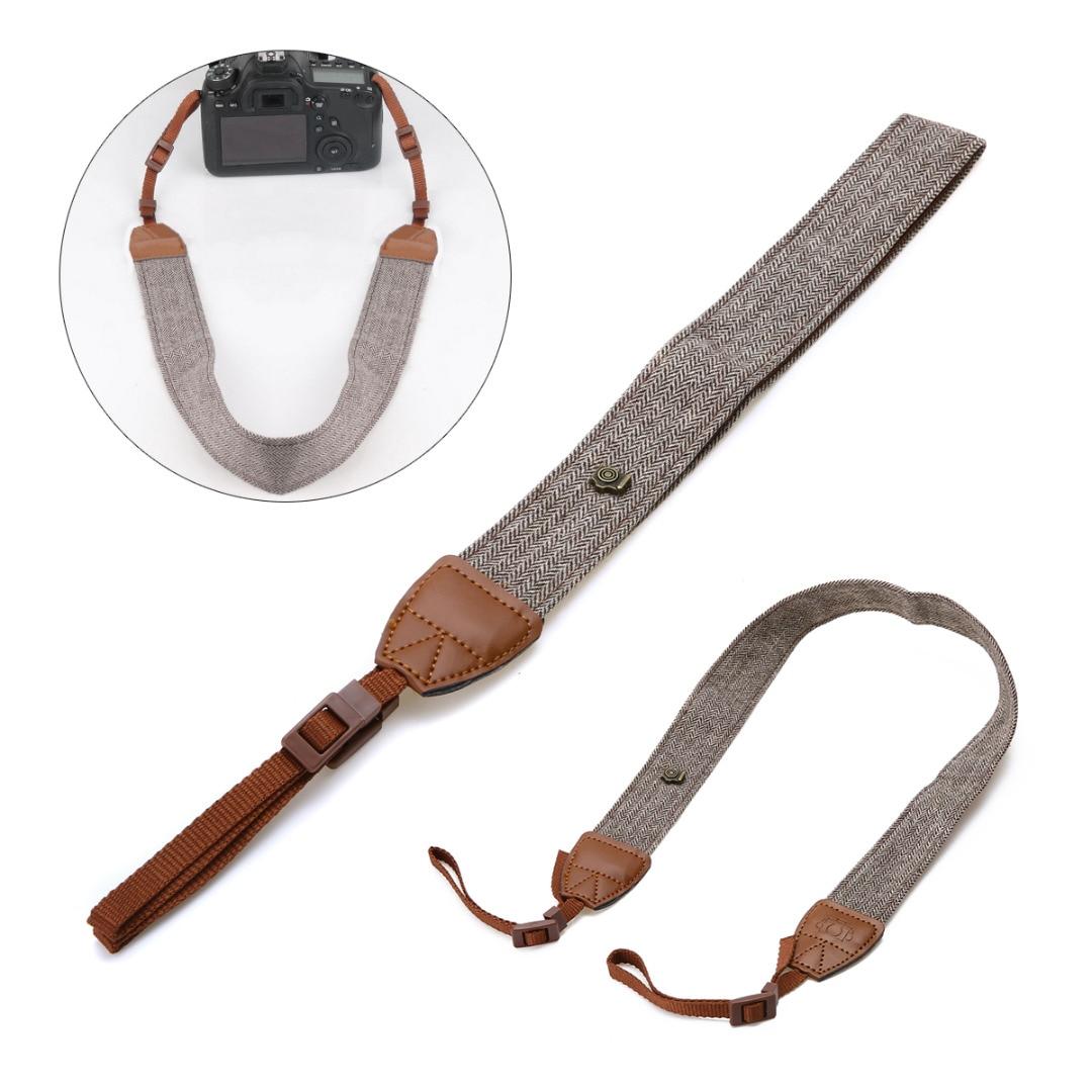Mayitr Vintage Camera Shoulder Strap Retro Comfortable Neck Strap Belt For DSLR Digital Canon Sony