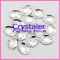 3092 oval flatback sew on stone crystal clear color 13x18mm sewing buttons for wedding dress,DIY decoration sew crystal