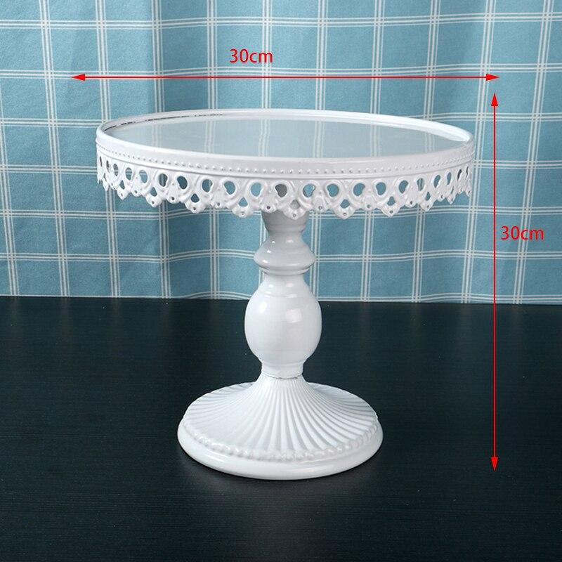 Round Cake Stand Plate Cupcake Dessert Wedding Birthday Party Decor Display