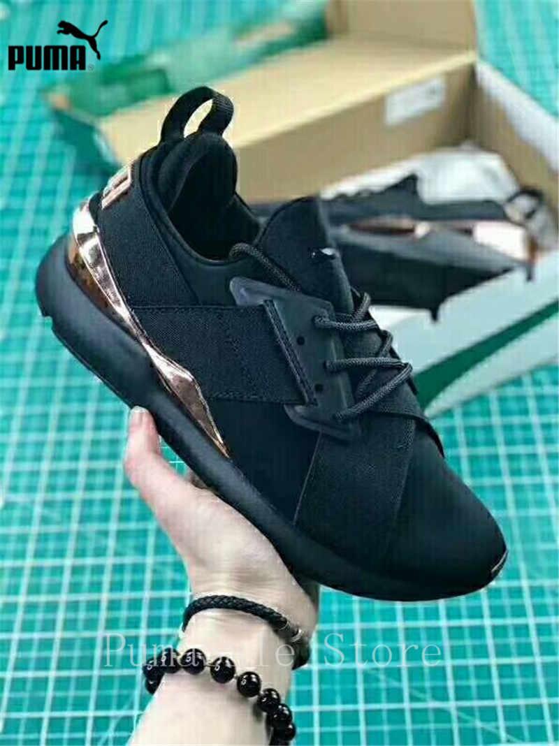 ... PUMA Muse Satin EP Womens Sneakers 367047-01 Women Sports Outdoor Badminton  Shoes Pink Black ... 96e52e18b