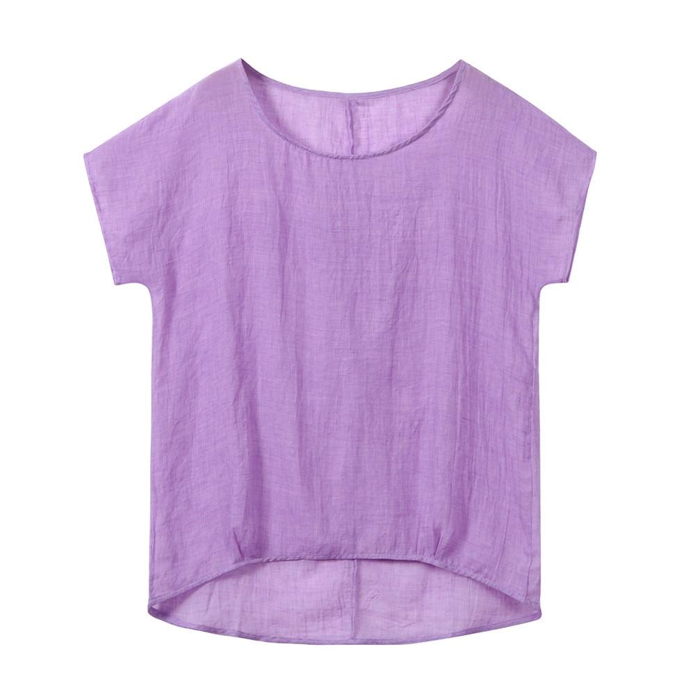 5xl Taille À Courtes Femmes Feminina 2018 Femelle Solide Noir Manches Plus T O shirts blanc D'été Tops pourpre cou Blouses La Et Femme Blusa Automne ppqxYX