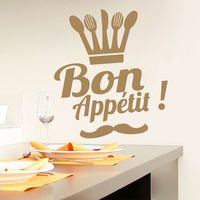 Wall Decals Bon Appetit Decal Quote Sticker Kitchen Cafe Decor Interior