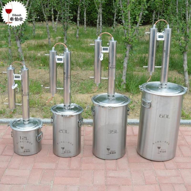Yuewo 12 60 L Liters 3 15 Gal Home Distiller Moonshine Still Spirits Water Alcohol Oil Boiler Thumper Keg Brew Kit Wine Making