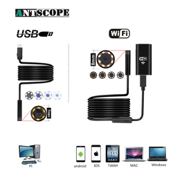 Wifi Endoscope HD Camera for Android iPhone  8mm 2 5 7 10M Softwire USB Endoscope 7mm 2M Inspection Pipe Waterproof Camera 19
