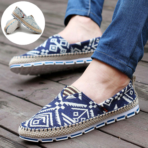Mens Driving Casual Slip On Loafers Canvas Shoes Fashion Sneakers