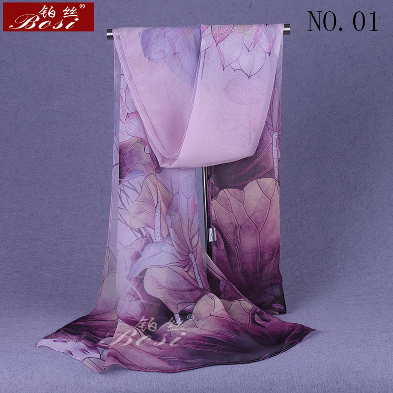 100% Silk Feel Fashion Hijab Print Scarf Shawls Women Chiffon Flower Scarves Cape Female Luxury Brand Ladies Stoles Pink Floral