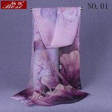100% silk feel Fashion hijab print Scarf Shawls women Chiffon flower sc
