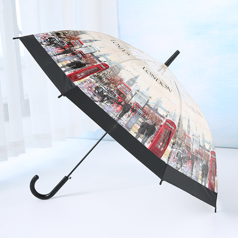 Transparent Umbrella Long-handle Bird In The Cage For Sunny And Rainy Days-LP