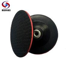 RIJILEI M10 4 дюйма резиновый круг тормозных колодок с полировальной подложкой тонком каблуке с застежкой-липучкой Шлифовальная прокладка паллет угловая шлифовальная машина шлифовально-Полировальный Станок 4BFRM10