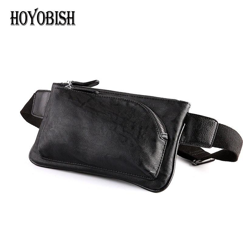 HOYOBISH 2017 Male Casual Travel Chest Bag Pu Leather Men Messenger Bags Crossbody Bags Single Shoulder Strap Pack Black OH078