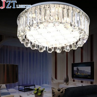 M New Arrival Modern Round Luxury K9 Crystal Lamp Stepless Dimming With Remote Control LED Living