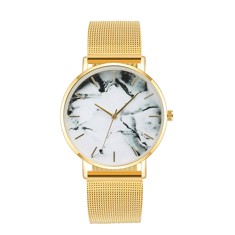 Fashion Rose Gold Mesh Band Creative Marble Female Wrist Watch Luxury Women Quartz Watches Gifts Relogio Feminino Drop Shipping 2