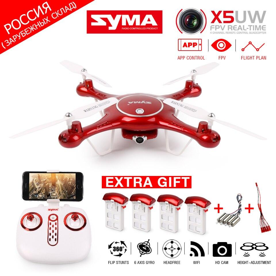 SYMA X5UW FPV Радиоуправляемый Дрон WI-FI Камера мобильный Управление, путь полета, высота держать, 2,4 г 6 оси RC Quadcopter Вертолет VS X5UC