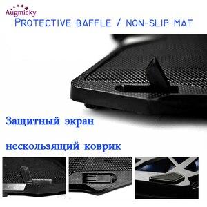 "Image 4 - Berufs spiel laptop Kühler Cooling Pad mit LED 4 fans USB 2,0 Notebook stand Halter Für macbook/Dell/asus14 ""15.6"" 17 zoll"