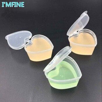 100pcs lot 45ml PP heart square shaped seasoning box Disposable tasting cup Salad sauce Take out