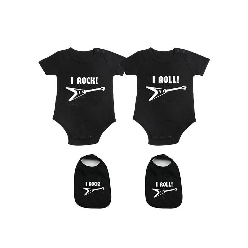 YSCULBUTOL Baby Bodysuits For Unisex Boys Girls White Twin Short Sleeve Clothes Baby Shower Gift My Lil Sis Rock My Big Bro Rock