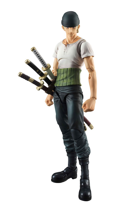 PrettyAngel - Genuine MegaHouse Variable Action Heroes ONE PIECE Roronoa Zoro PAST BLUE Action Figure 2