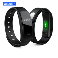 SCELTECH QS80 Smart Bracelet Blood Pressure Wristband Heart Rate Fitness Tracker Waterproof Smart Band For Android