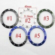40 มม.สีดำสีฟ้าสีเขียวสีขาวเซรามิคBEZEL FitอัตโนมัติBLIGERนาฬิกา
