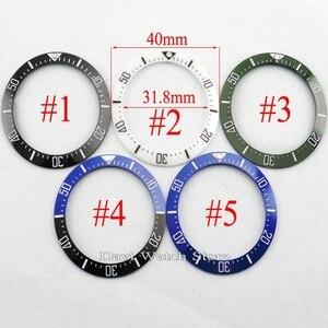Image 1 - 40 มม.สีดำสีฟ้าสีเขียวสีขาวเซรามิคBEZEL FitอัตโนมัติBLIGERนาฬิกา
