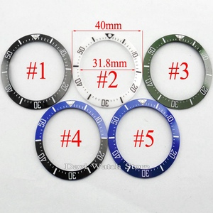 Image 1 - 40mm שחור כחול ירוק לבן קרמיקה bezel fit אוטומטי BLIGER שעון